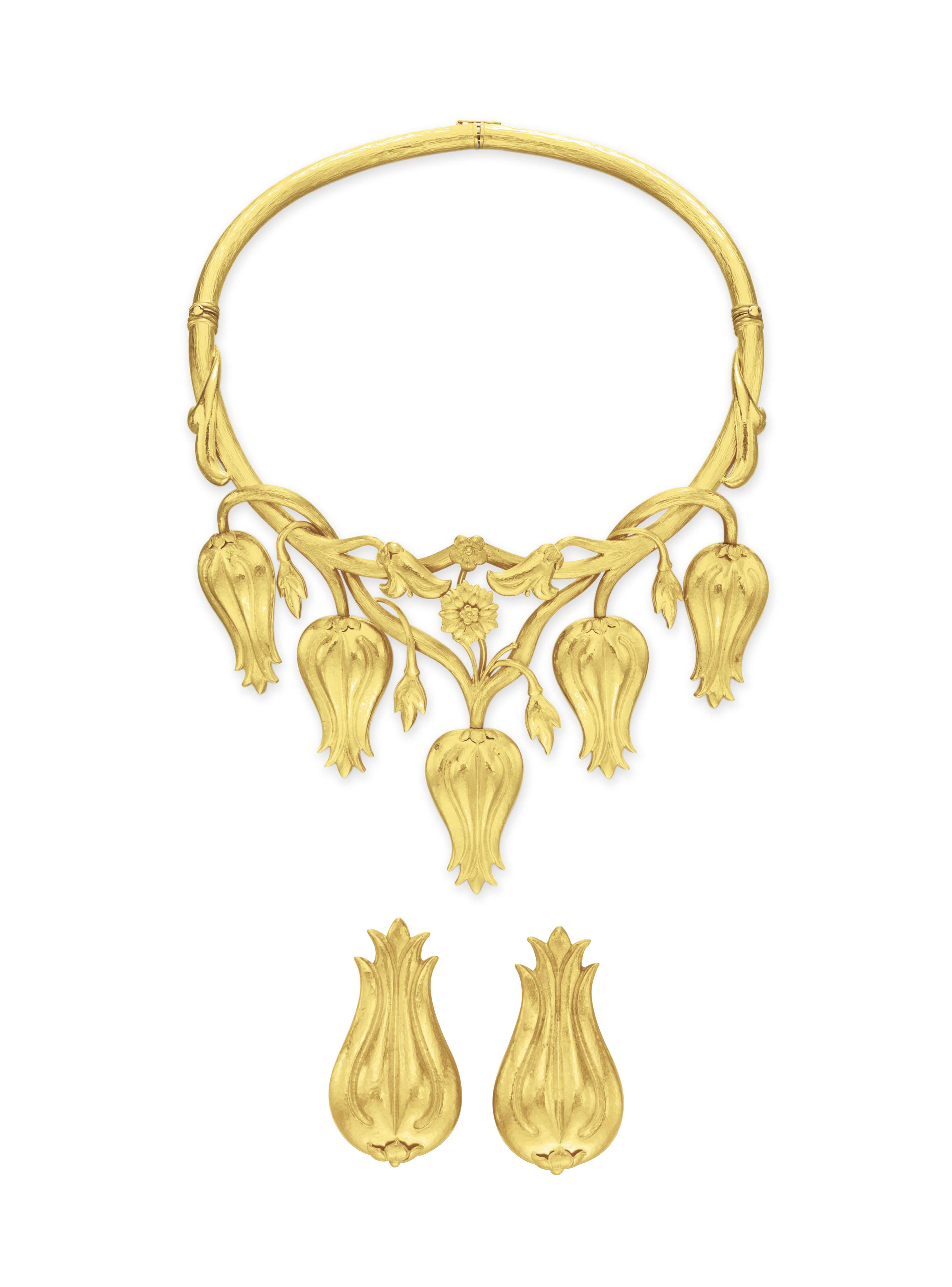A SET OF GOLD JEWELRY, BY ILIAS LALAOUNIS