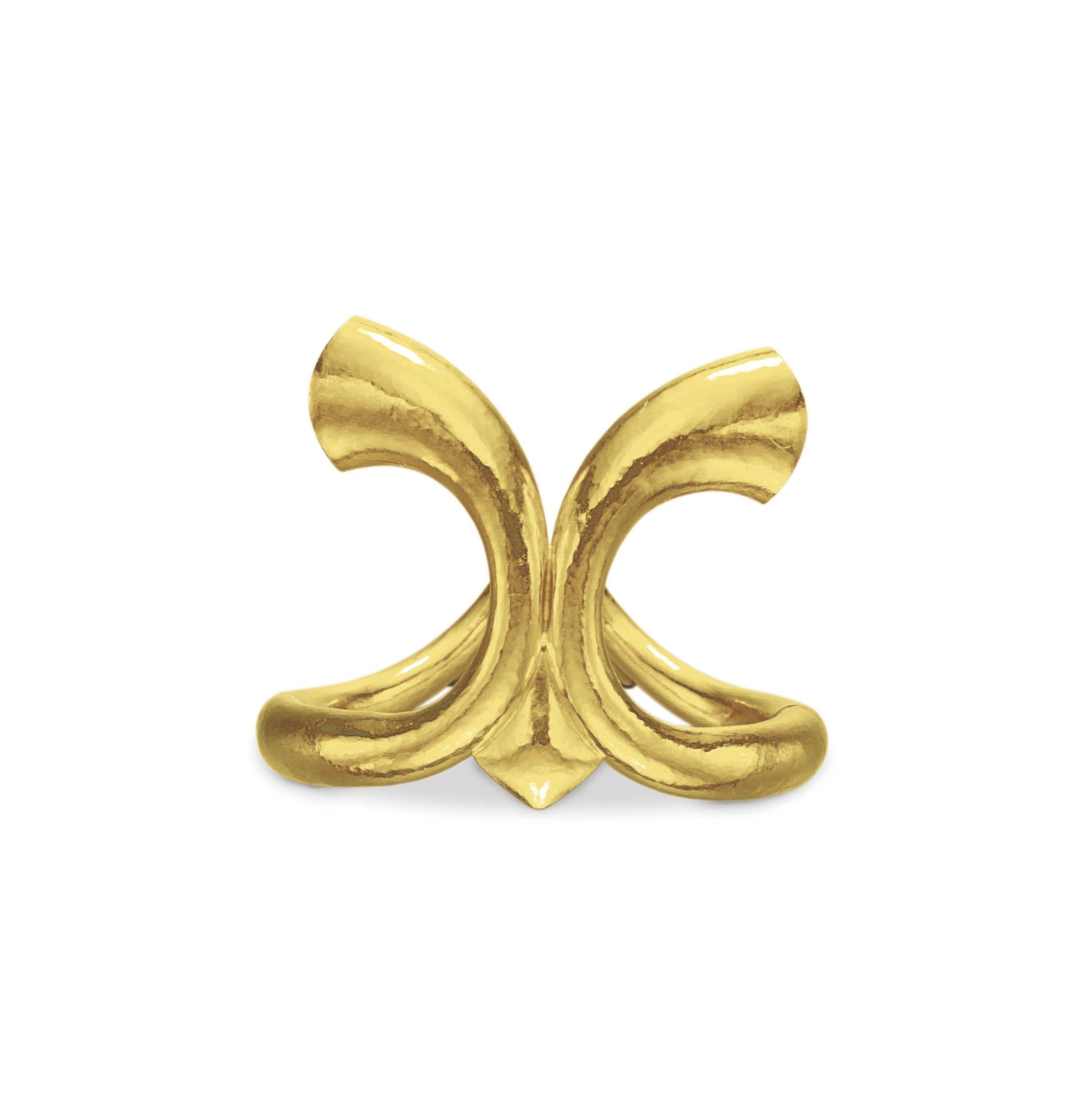 A GOLD CUFF BRACELET, BY ILIAS LALAOUNIS