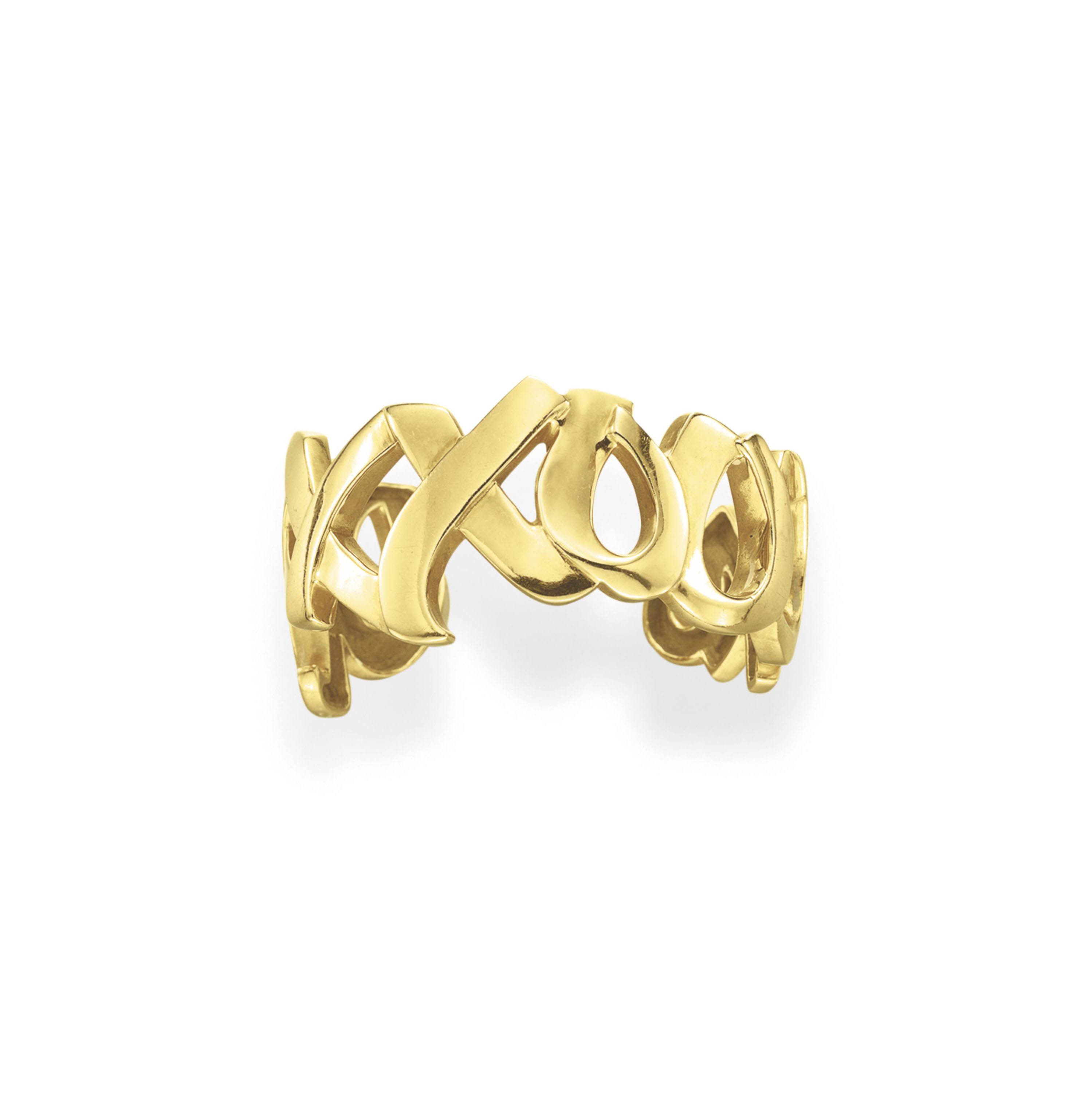 A GOLD CUFF BRACELET, BY PALOMA PICASSO, TIFFANY & CO.