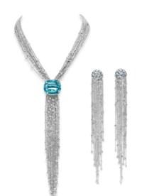 A SET OF AQUAMARINE AND DIAMOND JEWELRY, BY LYNN NAKAMURA
