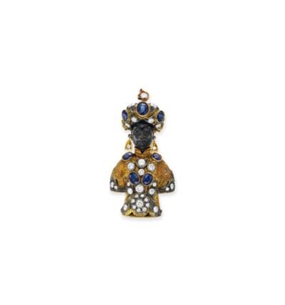 A DIAMOND, SAPPHIRE AND GOLD B