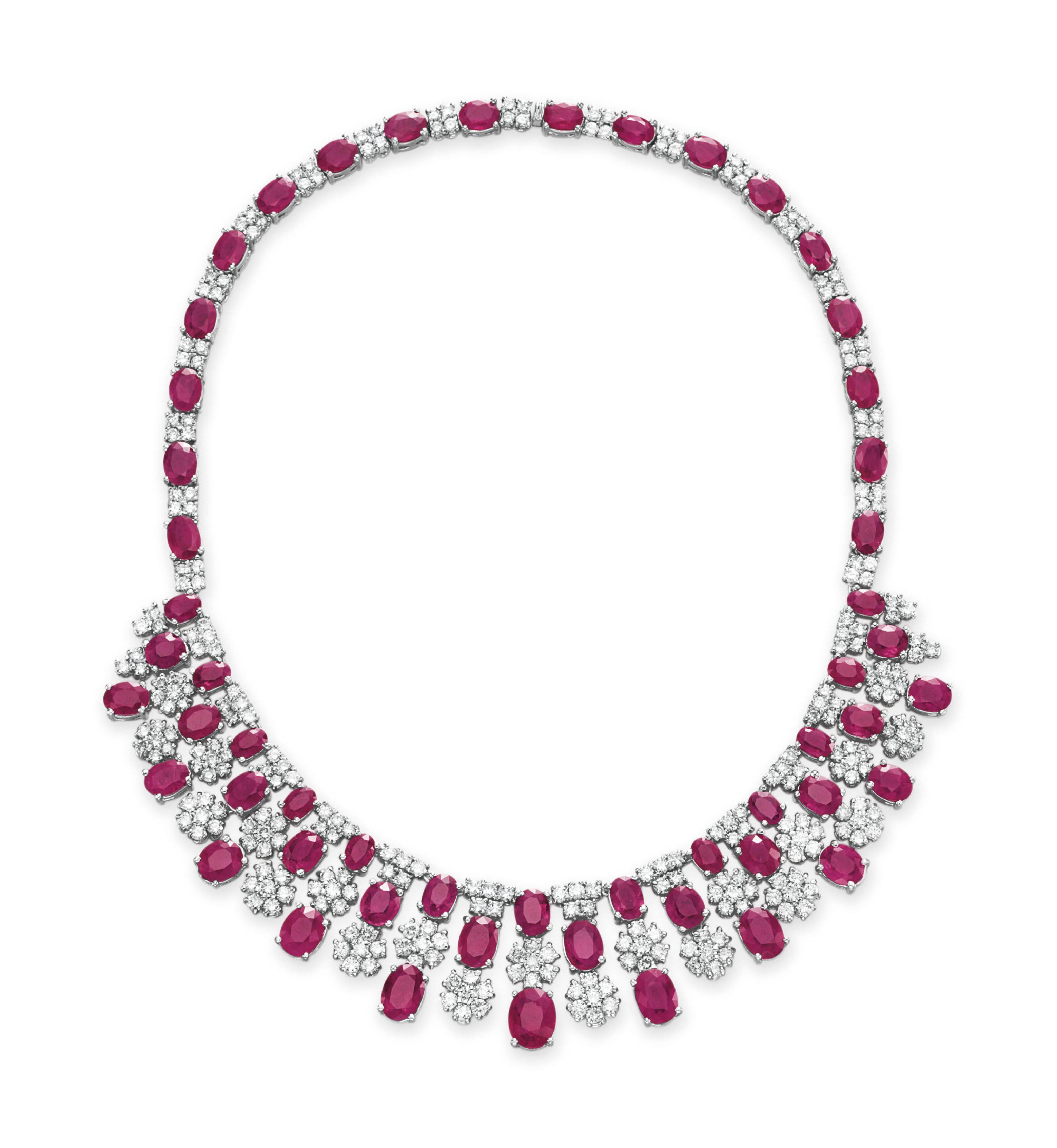 A RUBY AND DIAMOND NECKLACE, BY HOUSE OF TAYLOR