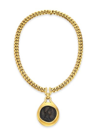 A GOLD COIN NECKLACE, BY BVLGA