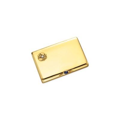 A GOLD, DIAMOND AND SAPPHIRE I