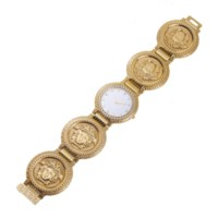A DIAMOND AND GOLD WRISTWATCH, BY GIANNI VERSACE