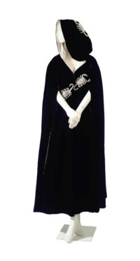 A TIZIANI BLACK VELVET 'SCORPIO' EVENING CAPE