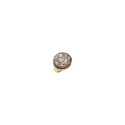 A ROCK CRYSTAL AND DIAMOND RIN