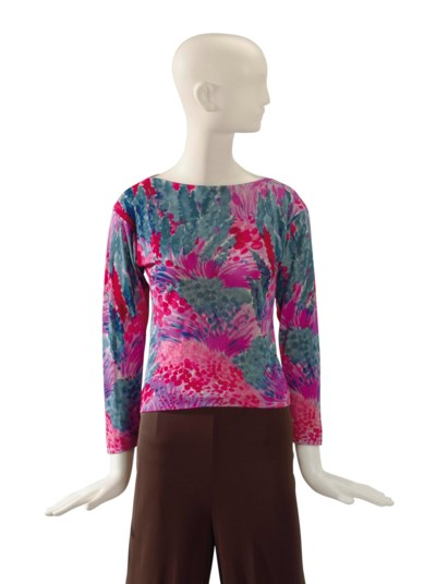 AN EMILIO PUCCI RED, PINK AND