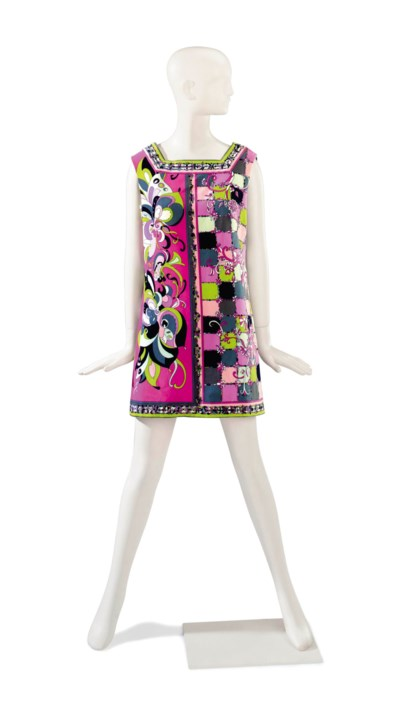 AN EMILIO PUCCI PINK AND MULTI