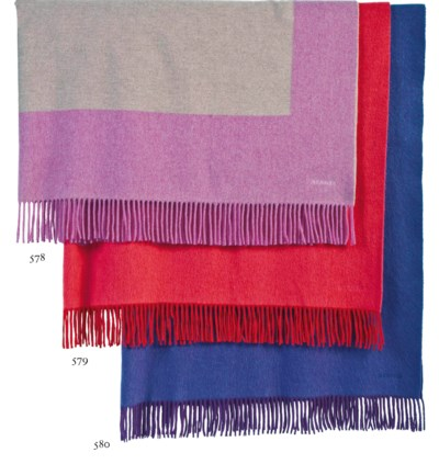 A VIOLET CASHMERE THROW OR CAR