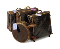 A SET OF SOFT-SIDED GARMENT CARRIERS AND A HAT BOX