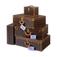 A SET OF ALZER SUITCASES AND A BOITE PHARMACIE