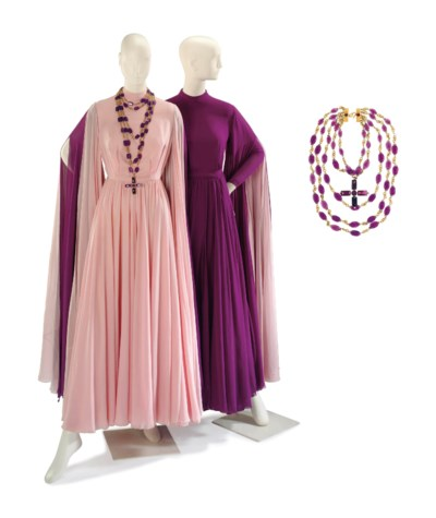 TWO VALENTINO PINK AND PURPLE