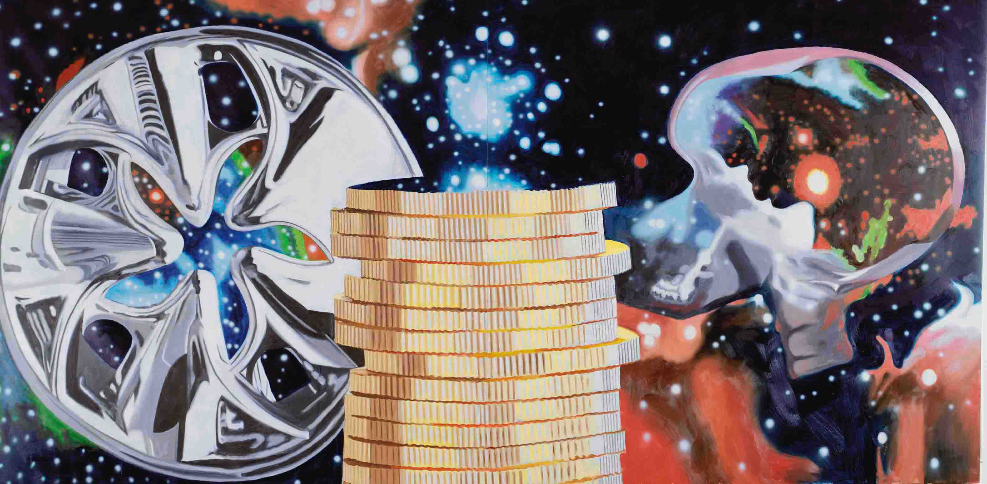 The Richest Person Gazing at the Universe Through a Hubcap
