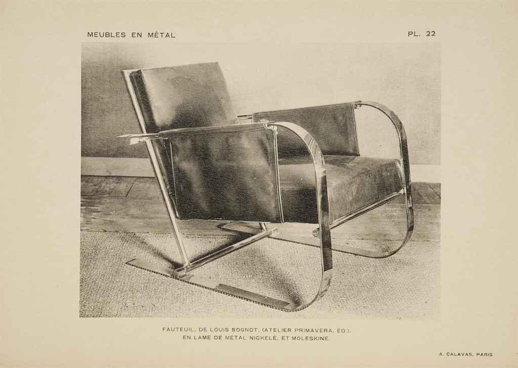 pinsard pierre meubles modernes en m tal paris librairie des arts d coratifs vers 1930. Black Bedroom Furniture Sets. Home Design Ideas