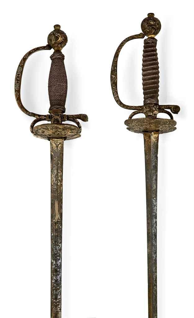Deux épées de cour, probableme