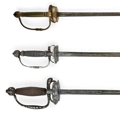 Epée de cour d'enfant à montur