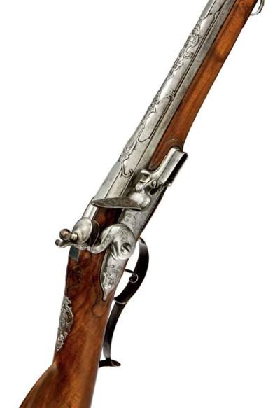 Fusil de chasse à silex frança