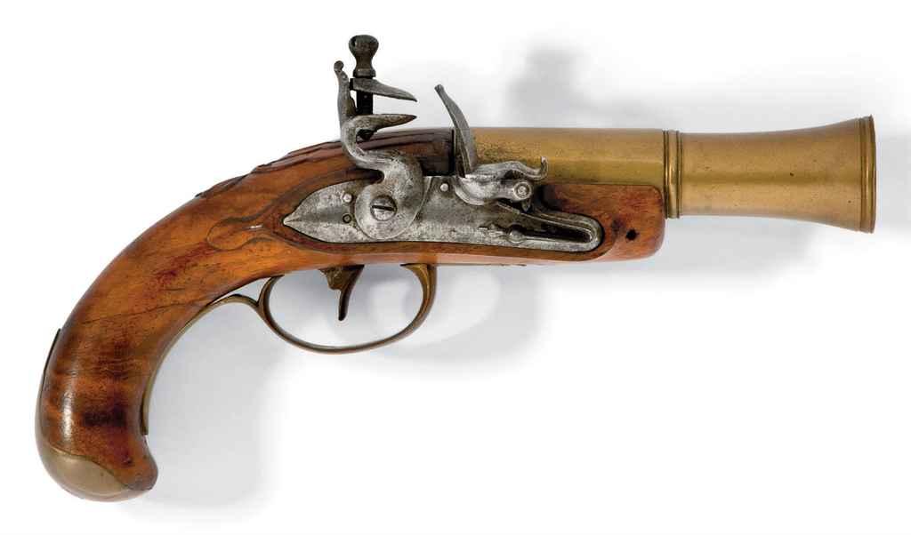 Pistolet tromblon à silex cont