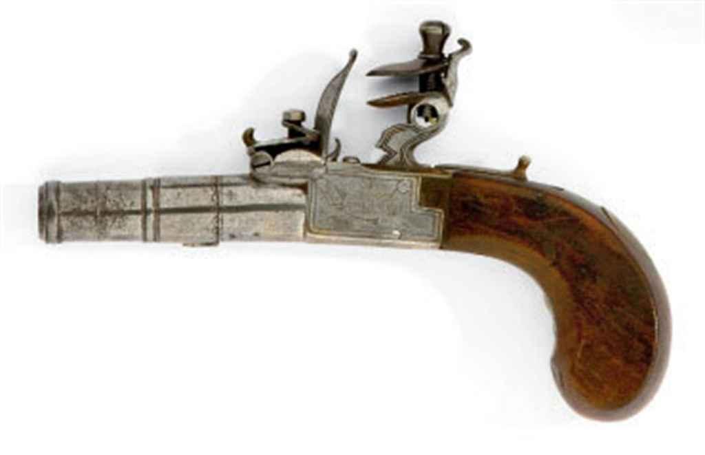 Pistolet de dame à silex à cof