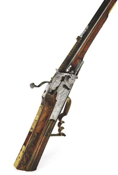Beau fusil de chasse à rouet a