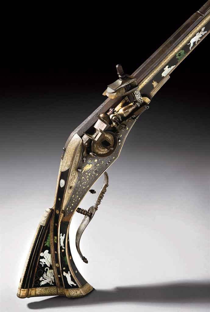 Carabine de chasse à rouet (Te