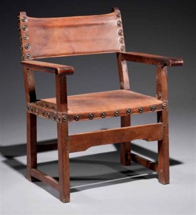 Chaise à bras d'époque baroque