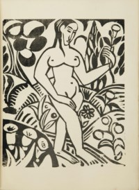 [DERAIN] -- APOLLINAIRE, Guillaume (1880-1918). L'Enchanteur pourrissant. Illustré de gravures sur bois par André Derain. Paris: Henry Kahnweiler, 1909.