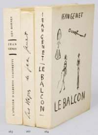 GENET, Jean (1910-1986). L'Atelier d'Alberto Giacometti. --Les Bonnes, suivi d'une lettre. --L'Enfant criminel. --Le Funambule. Paris: L'Arbalète, 1958.