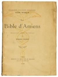 [PROUST] -- RUSKIN, John (1819-1900). La Bible d'Amiens. Traduction, notes et préface de Marcel Proust. Paris: Mercure de France, 1904.