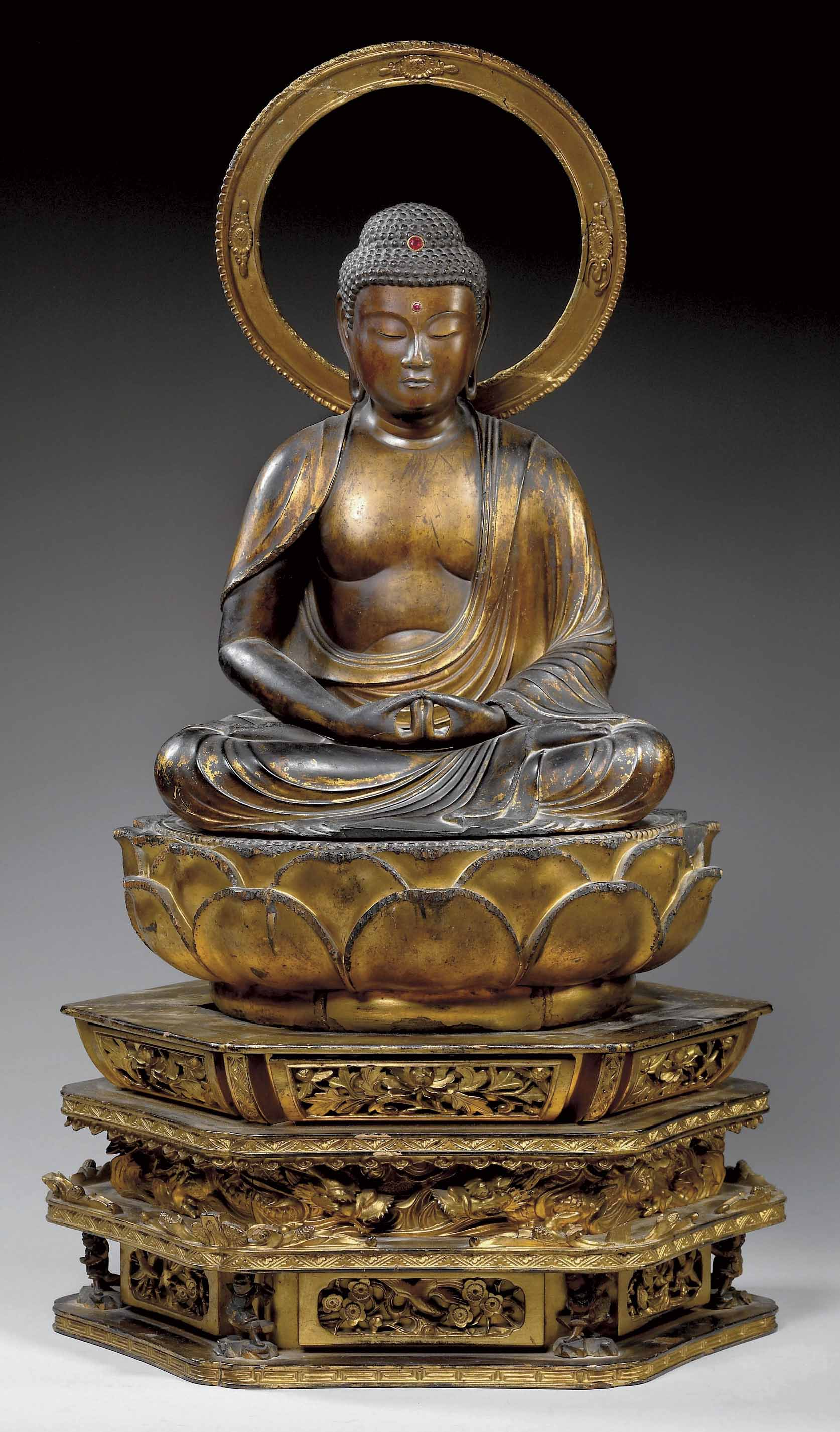 statue de bouddha amida en bois laque japon epoque edo 1615 1868 christie 39 s. Black Bedroom Furniture Sets. Home Design Ideas