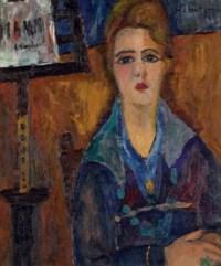 Femme au collier, modèle de Modigliani