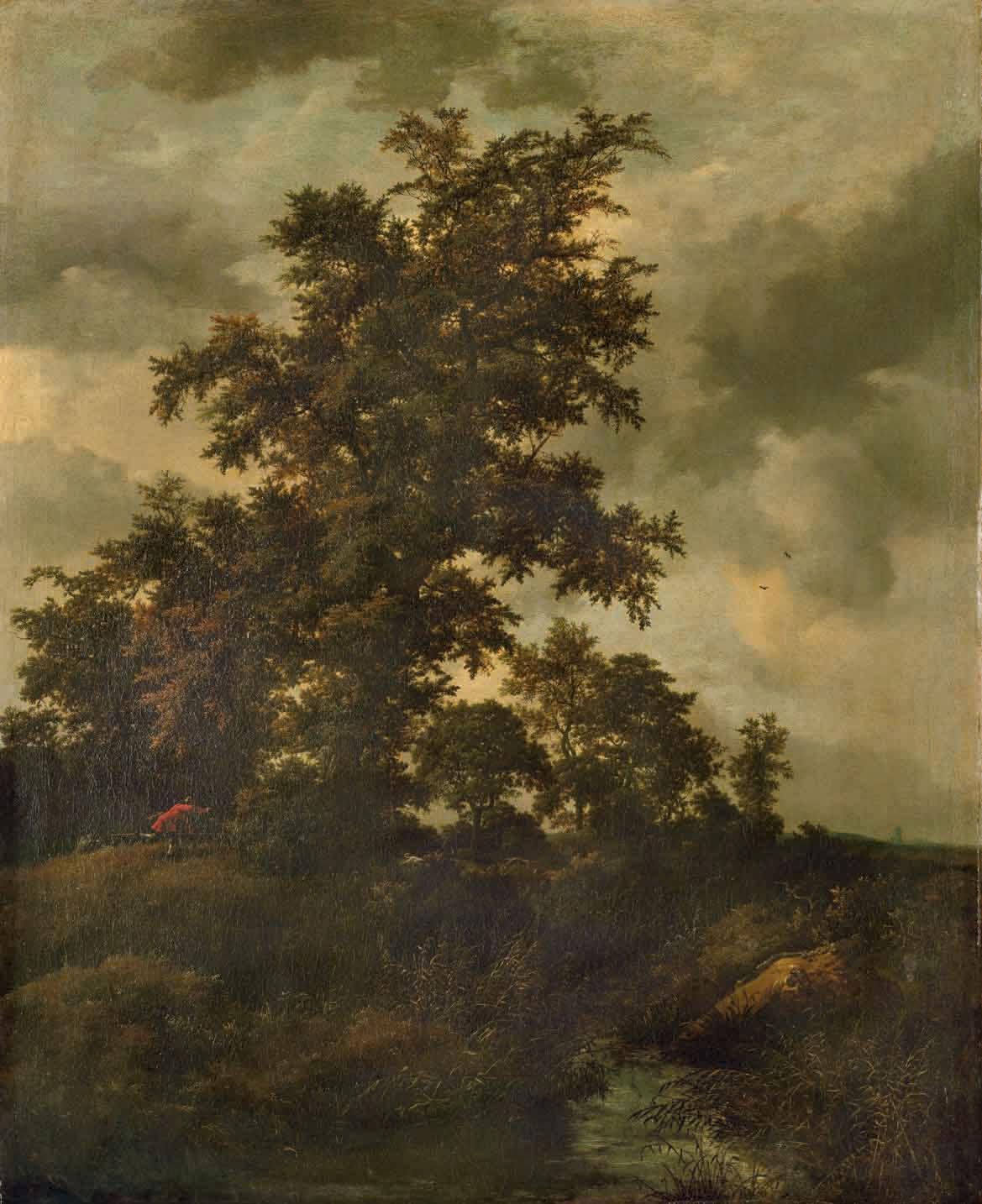 Chasseurs dans un paysage boisé