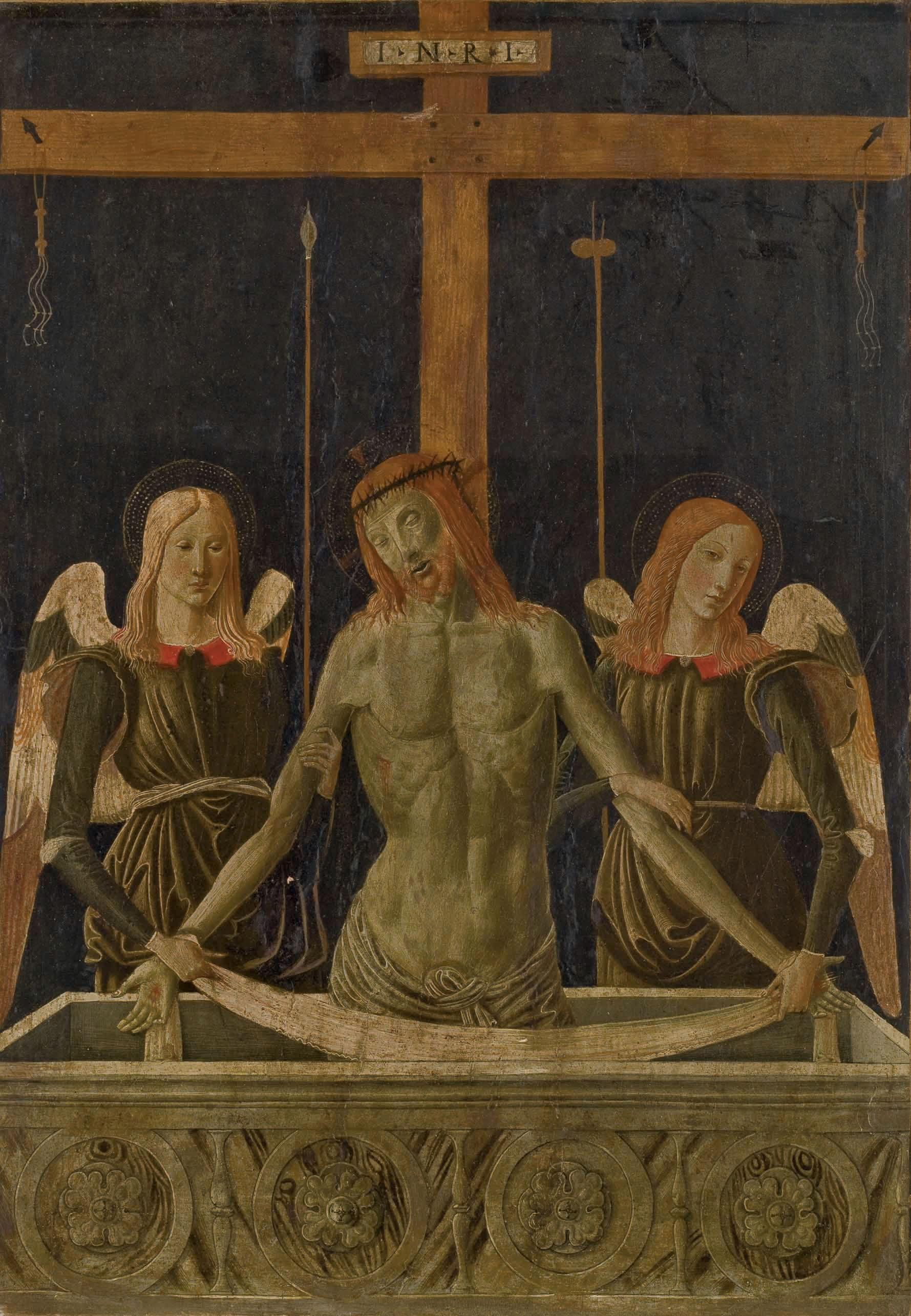 Le Christ au tombeau soutenu par deux anges