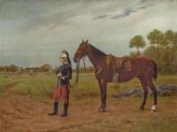 Hussard et sa monture