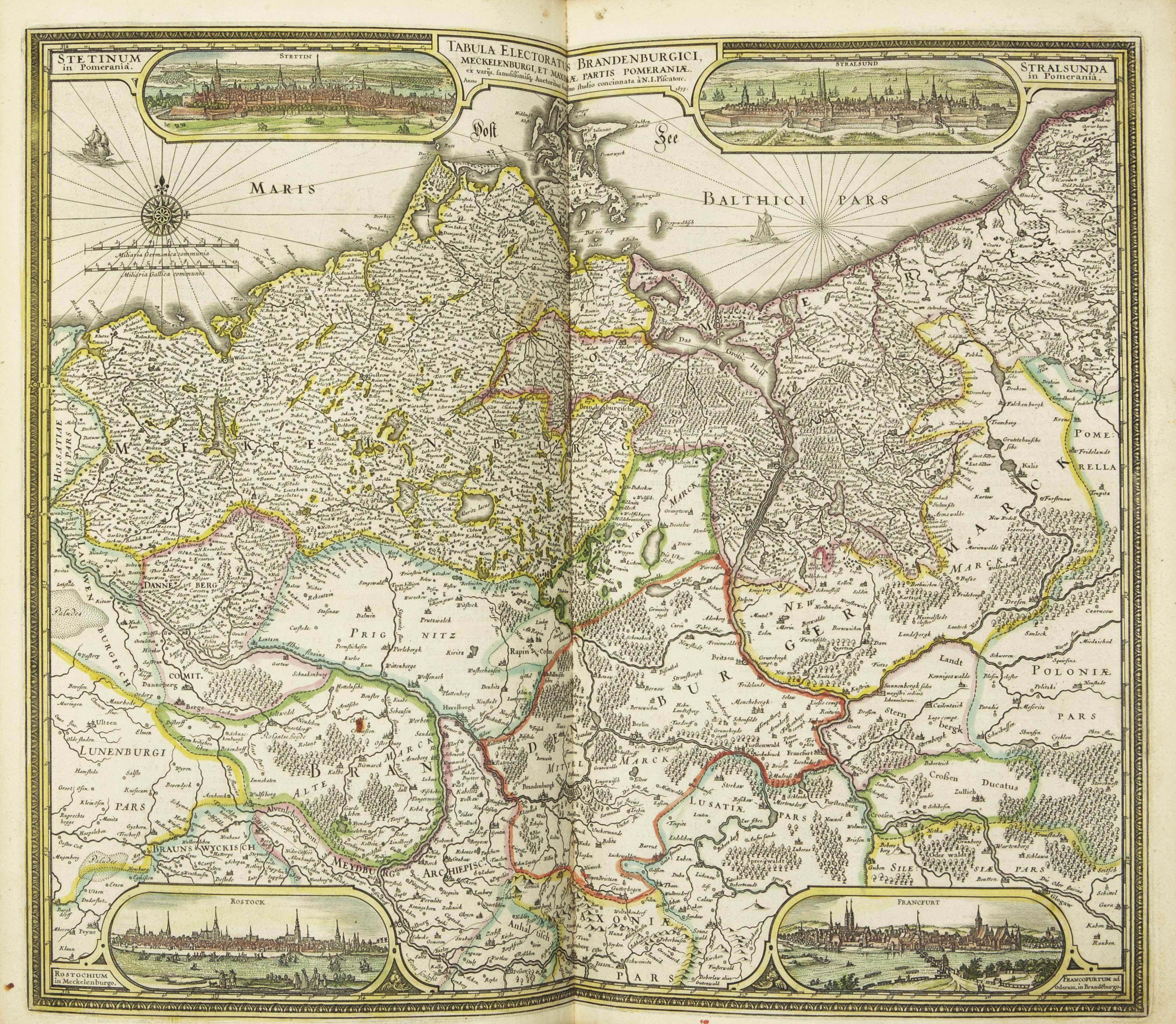 MERCATOR, Gérard (1512-1594) & HONDIUS, Jodocus (1563-1612). Atlas ou Représentation du monde universel... divisé en deux tomes. Edition nouvelle. Amsterdam: Henry Hondius, 1633.