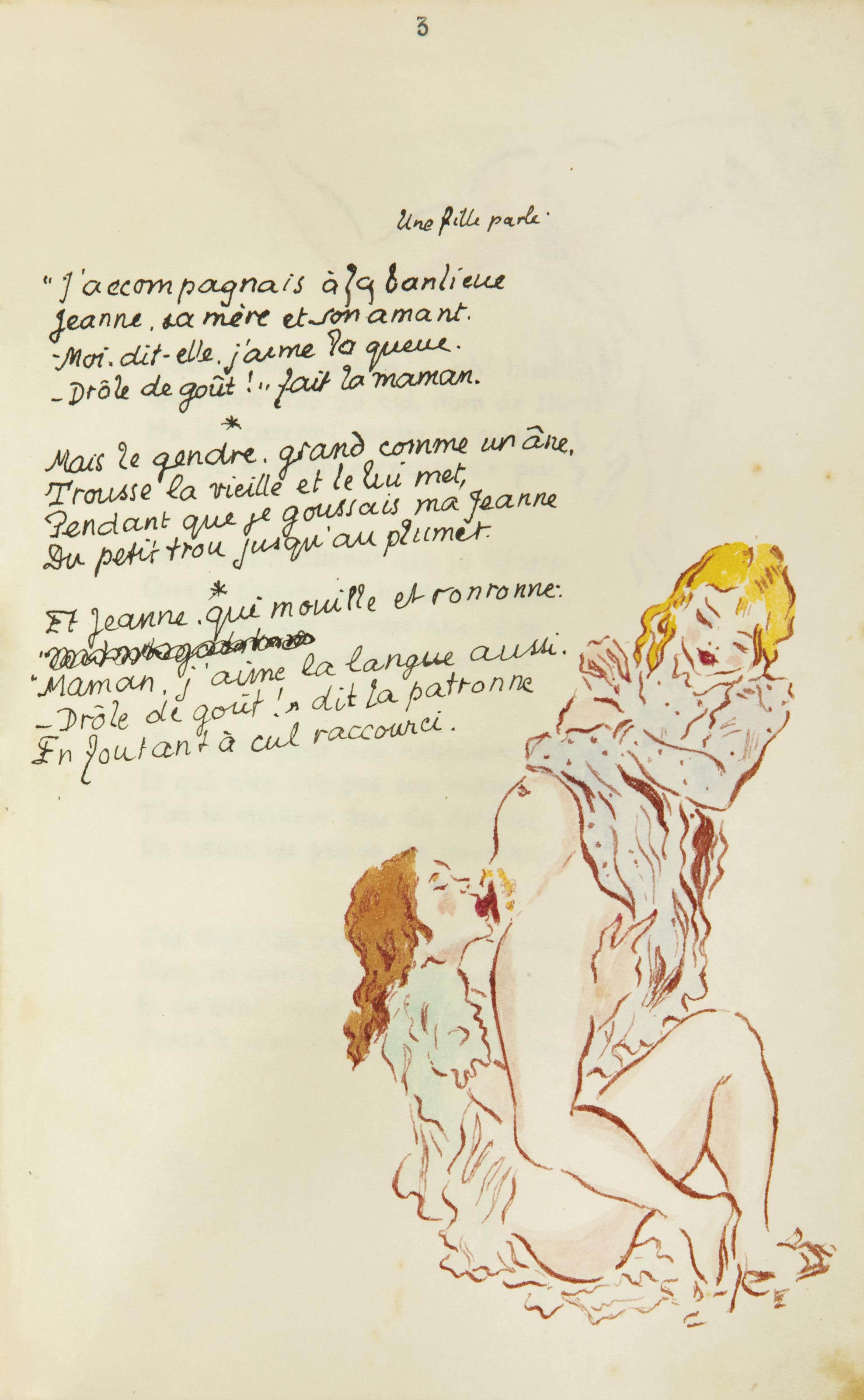 [ROJAN] -- LOUYS, Pierre (1880-1925). Poésies érotiques. S.l.n.d. [vers 1938].