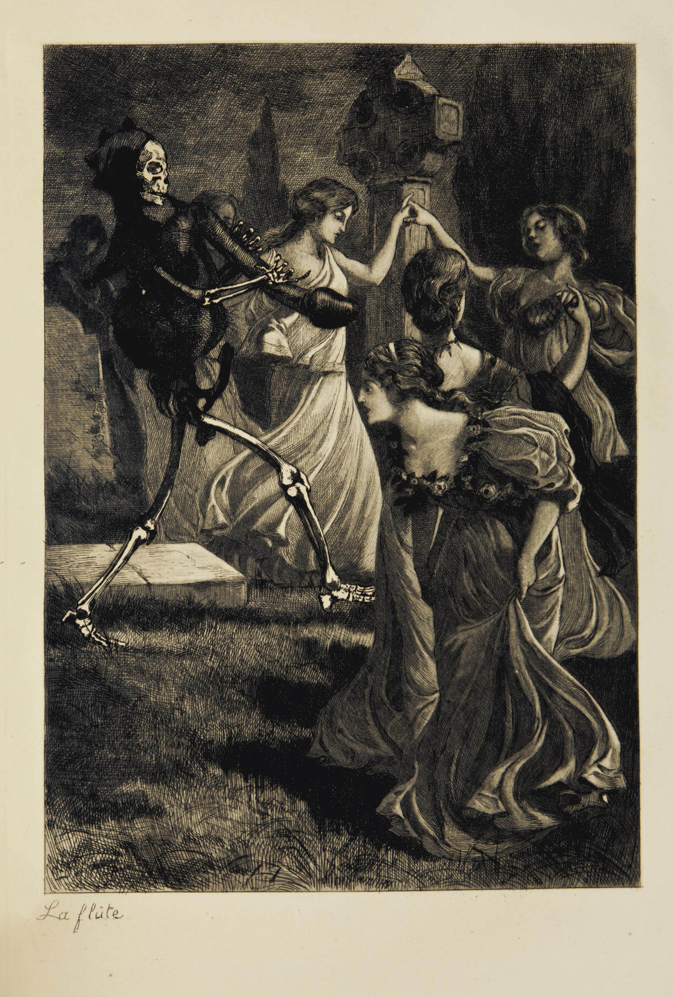 """[VAN MAELE, Martin (actif vers 1880)]. Suite complète de dix eaux fortes inspirées de la """"Légende des sexes"""". S.l.n.d. [Vers 1885]."""