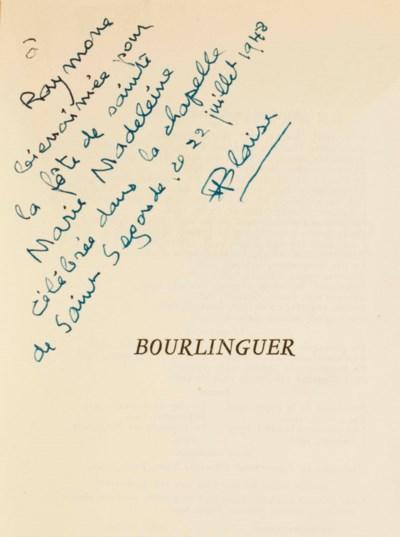 CENDRARS, Blaise. Bourlinguer.