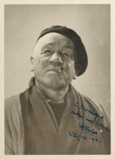 Portrait de Cendrars en buste,