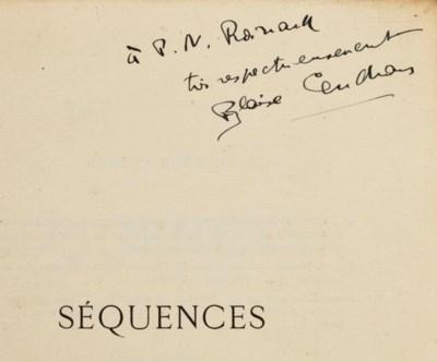 CENDRARS, Blaise. Séquences. P