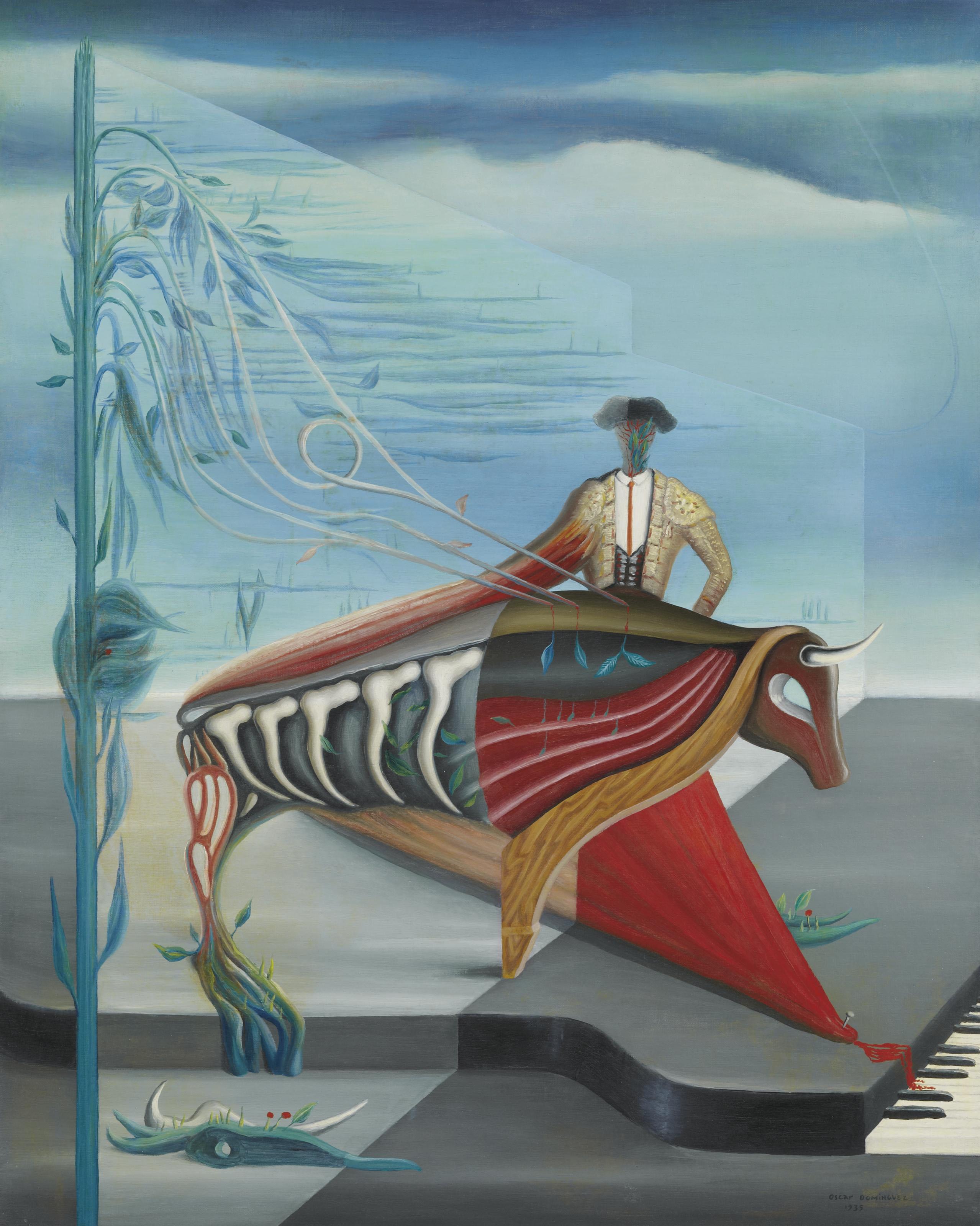 Composition au taureau et piano