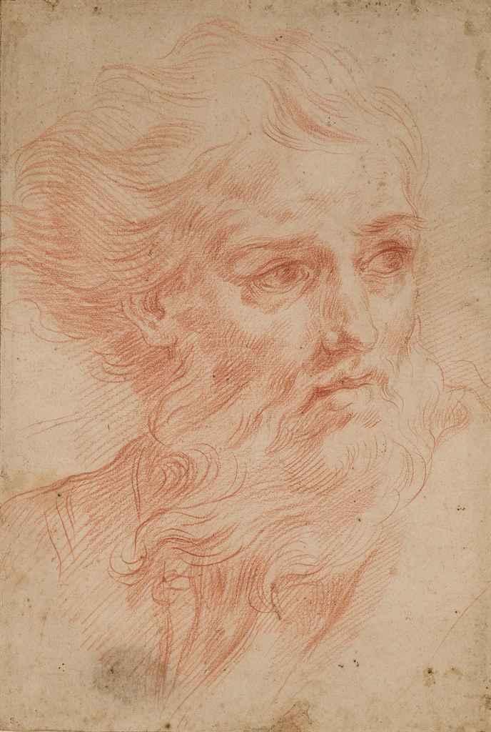 Tête d'homme barbu