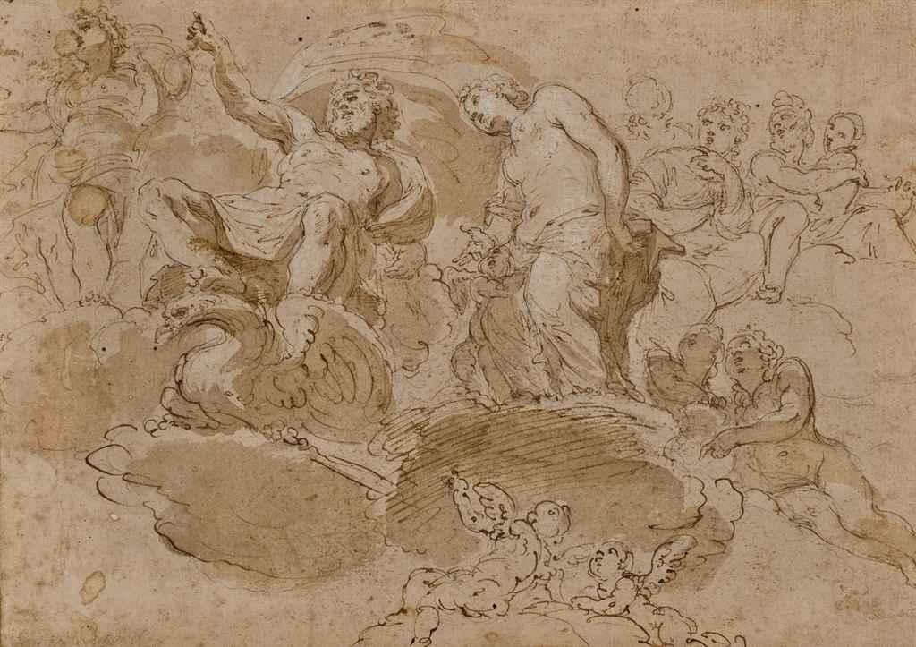 Etude de plafond avec Jupiter
