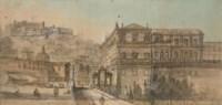 Vue du Castel Sant'Elmo et du Palazzo Reale à Naples