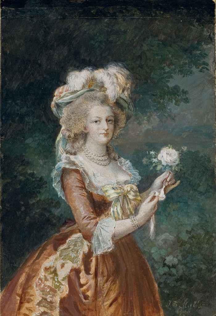 Portrait de Marie-Antoinette à la rose