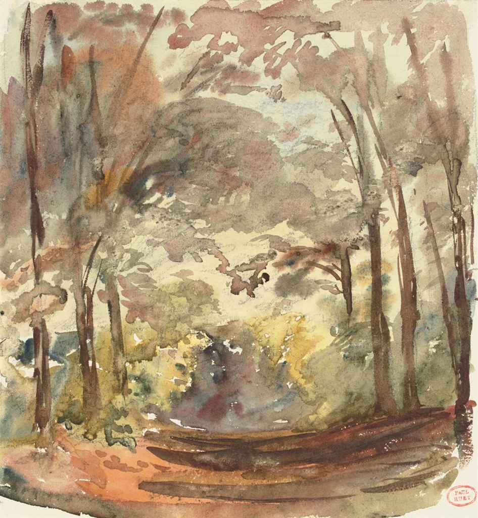 Sentier forestier en automne