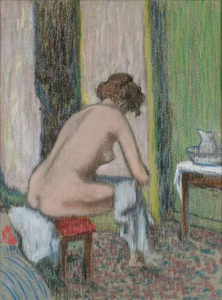 Femme à sa toilette (recto); Esquisse d'une tête de femme (verso)