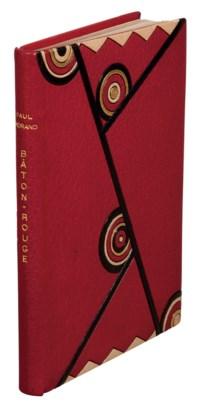 MORAND, Paul (1888-1976). Bâton-Rouge. Les Belles heures, II. Maestricht: A.A.M. Stols, 1928. In-8 (200 x 140 mm). Eau-forte originale en frontispice de Jacques-Émile Laboureur.