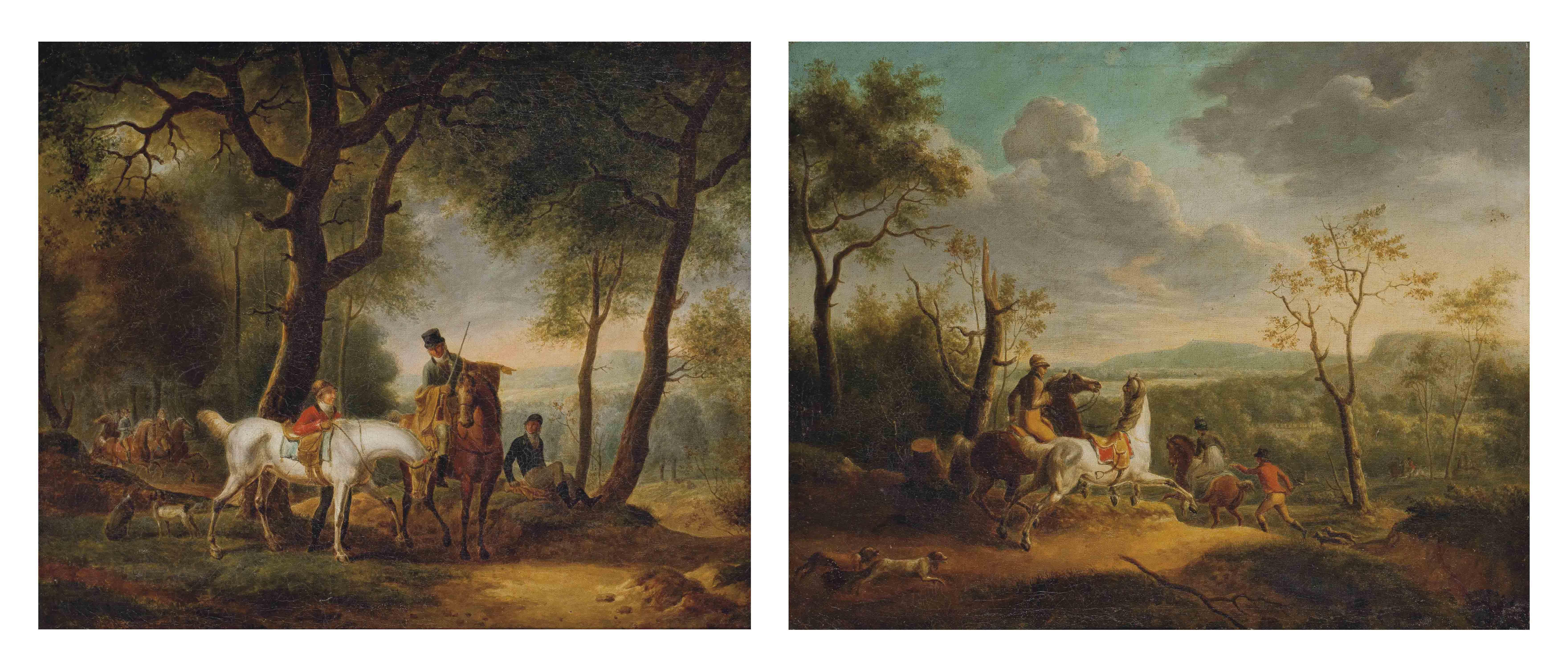 Deux scènes de chasse à courre